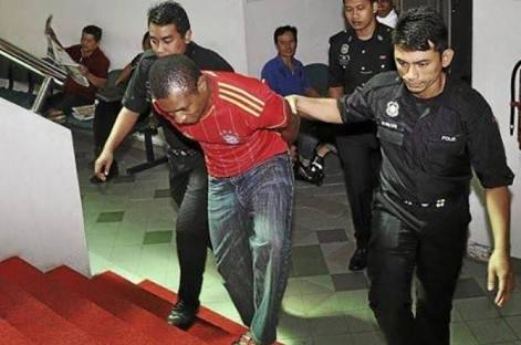 Nigeria arrested in Malaysia