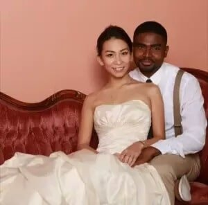 Black Japanese couple married