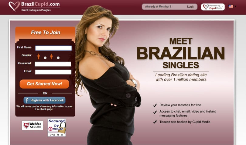 Online-Dating-Seite in Brazil