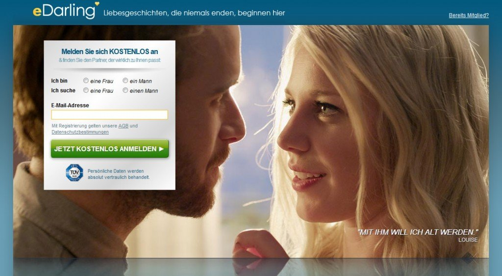eDarling.de German dating site & app