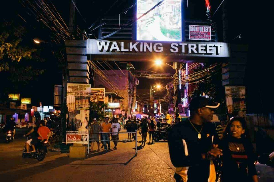 Angeles City Walking Street in the Philippines